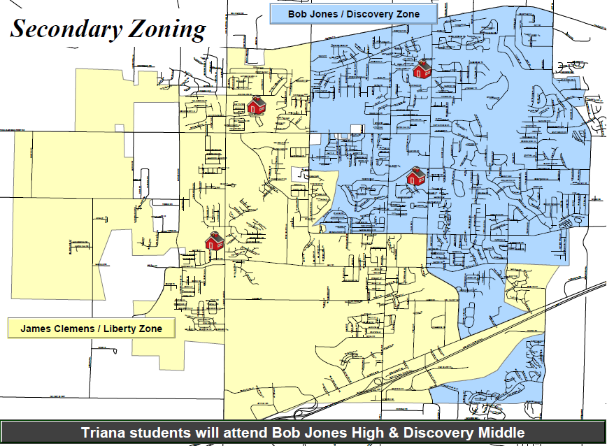 James Clemens High School Zone Map